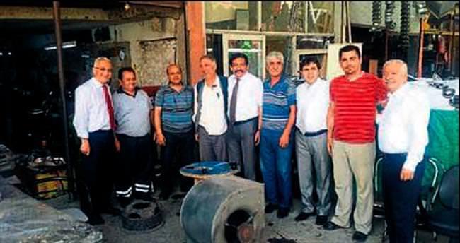 MHP adaylarının sanayi esnafı turu