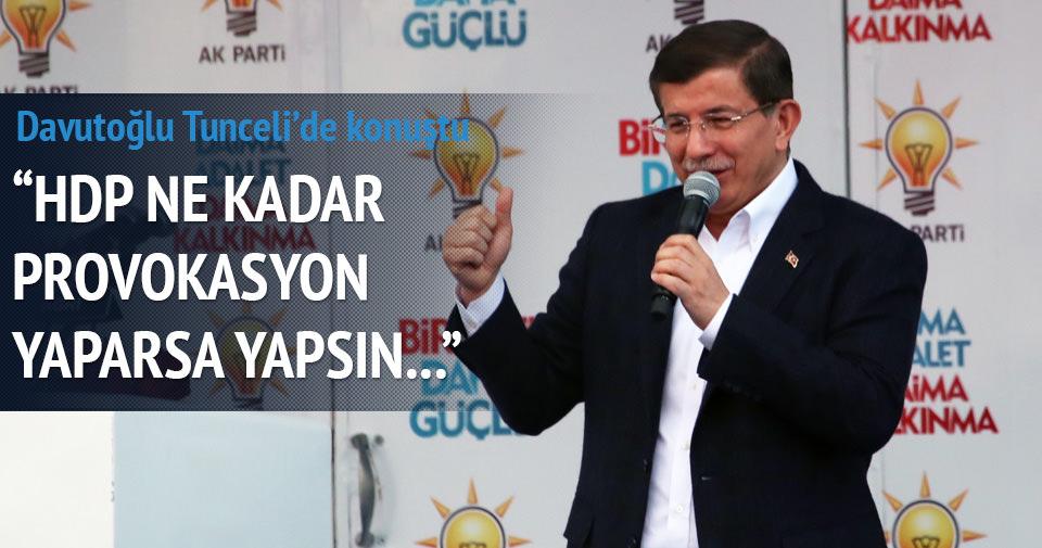 Davutoğlu: HDP ne kadar provokasyon yaparsa yapsın...