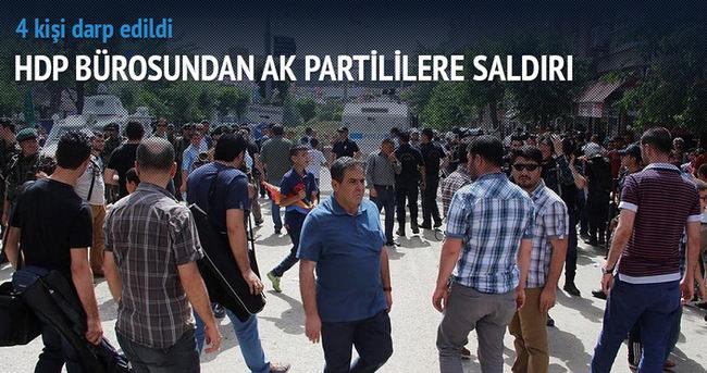 HDP bürosundan AK Partililere saldırı
