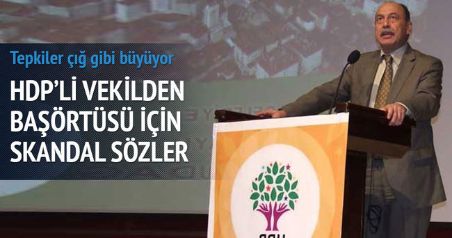 HDP'li Levent Tüzel: Başörtüsü ritüeldir!