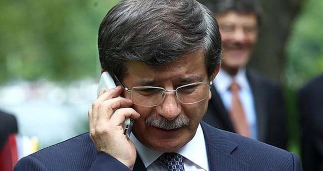 Davutoğlu'ndan geçmiş olsun telefonu