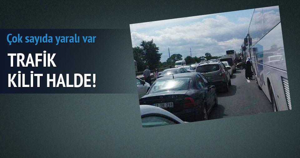 TEM'de trafik kazası!
