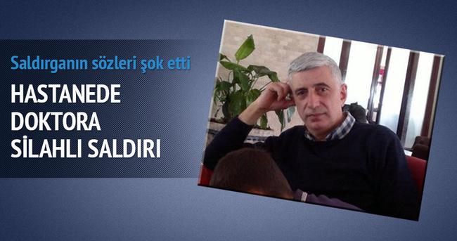Samsun'da hastanede doktora silahlı saldırı