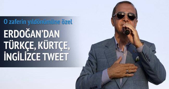 Erdoğan'dan Kürtçe ve İngilizce tweet!