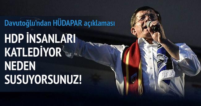 Davutoğlu'ndan HÜDA PAR açıklaması