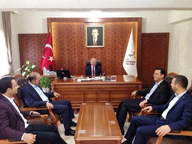 AK Parti Milletvekili Adayları Vali Ceylan'ı Ziyaret Etti