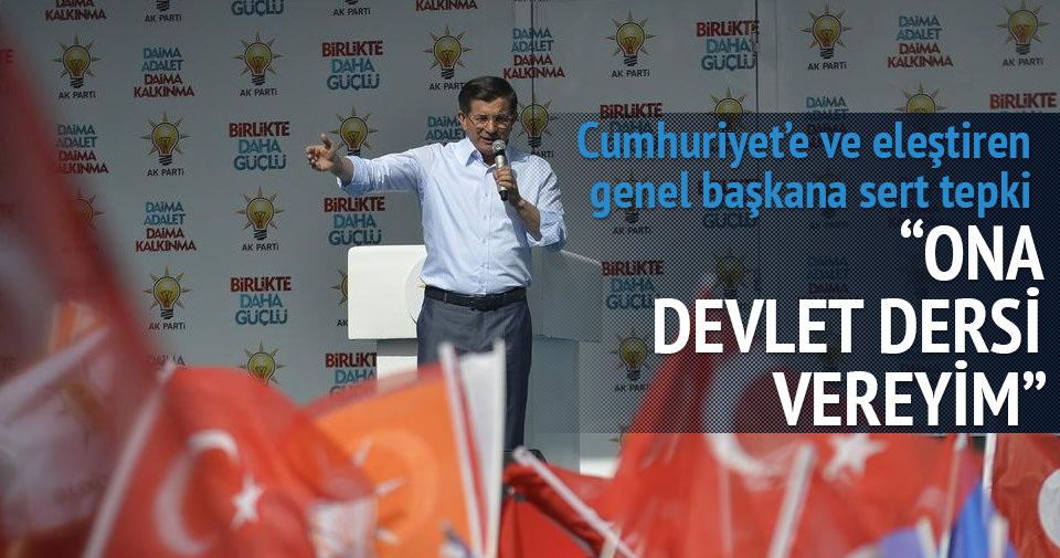 Davutoğlu: Bahçeli'ye devlet dersi vereyim