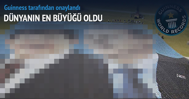 Dünyanın en büyük posteri Türkiye'de
