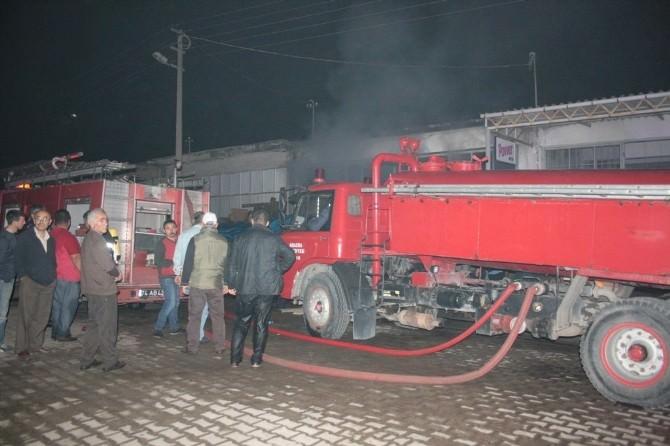 Amasra Sanayi Sitesinde Yangın
