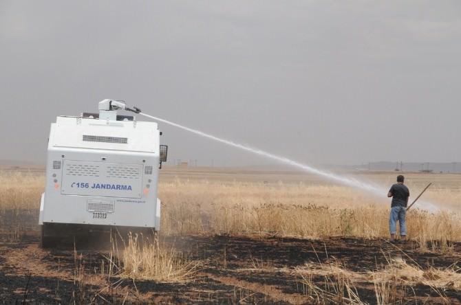 Buğday Tarlasındaki Yangına TOMA Müdahale Etti