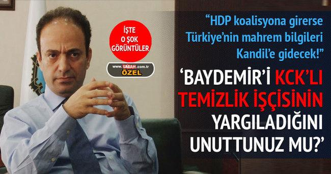 HDP koalisyona girerse devlet sırları Kandil'e gidecek