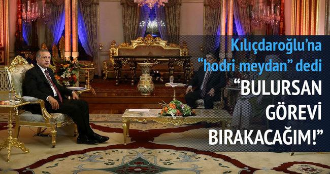 Kılıçdaroğlu'na hodri meydan dedi