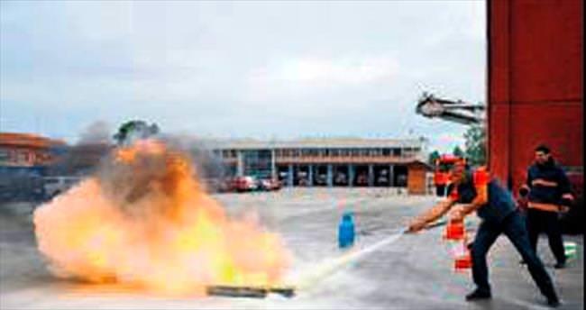 Basın personeline yangın eğitimi