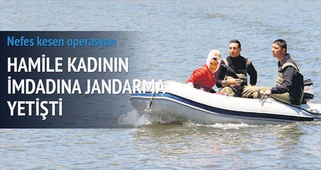 Jandarma, hamile kadını böyle kurtardı
