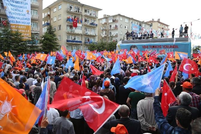 Başbakan Davutoğlu, Keçiören Ve Yenimahalle Mitinglerinde Konuştu