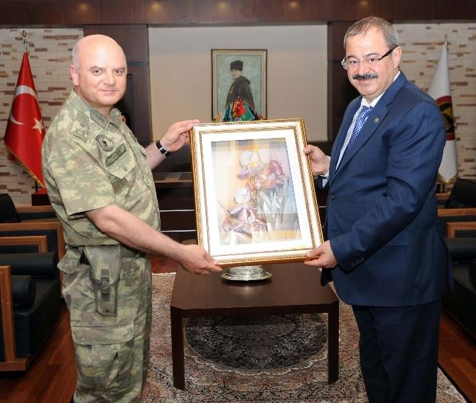 Tuğgeneral Cemalettin Doğan GSO'yu Ziyaret Etti