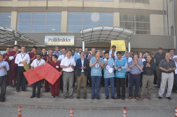 Kâhta'da Dr. Kamil Furtun'un Öldürülmesi Protesto Edildi