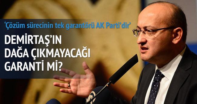 Akdoğan: Demirtaş'ın dağa çıkmayacağı garanti mi?