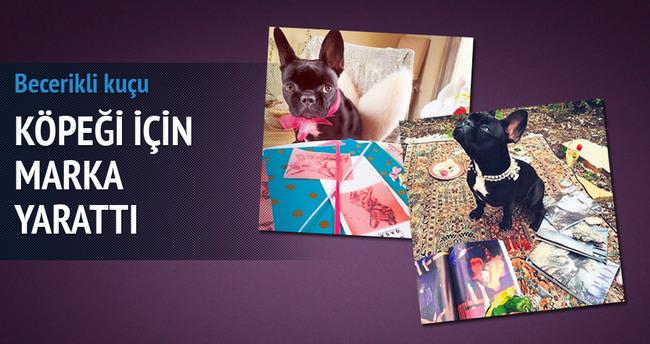 Gaga köpeği için marka yarattı