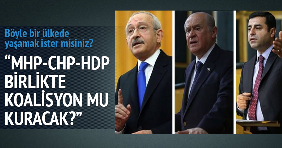 Kurtulmuş: MHP HDP'yle mi ortak olacak?