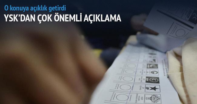 YSK'dan seçim güvenliği açıklaması