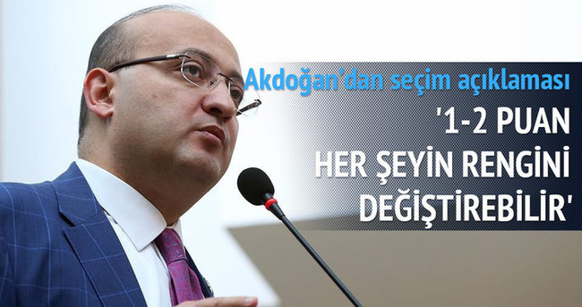 Akdoğan: 1-2 puan her şeyi değiştirebilir