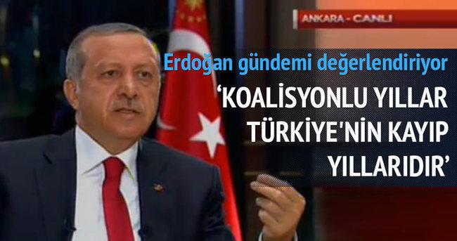 Erdoğan: Koalisyonlu yıllar Türkiye'nin kayıp yıllarıdır