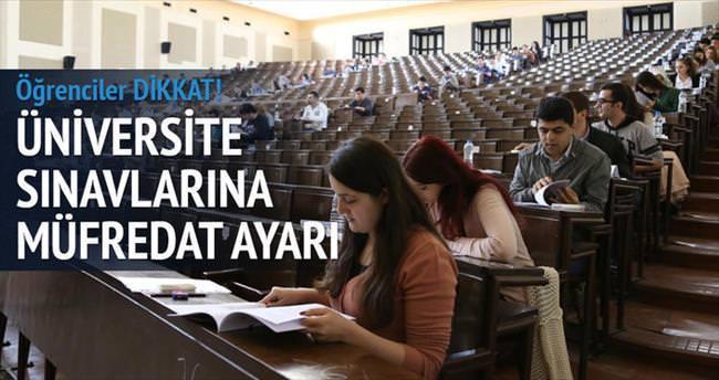 Üniversite sınavlarına müfredat ayarı