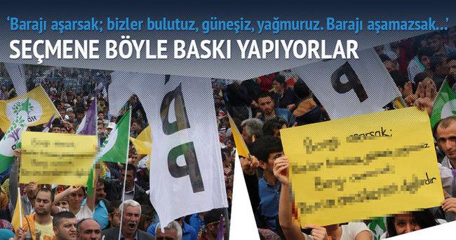 HDP'nin Güneydoğu'da seçmene baskısı