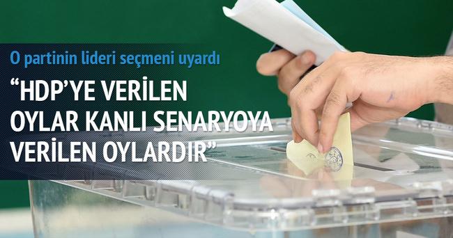 HDP'ye verilen oylar kanlı senaryoya verilen oydur