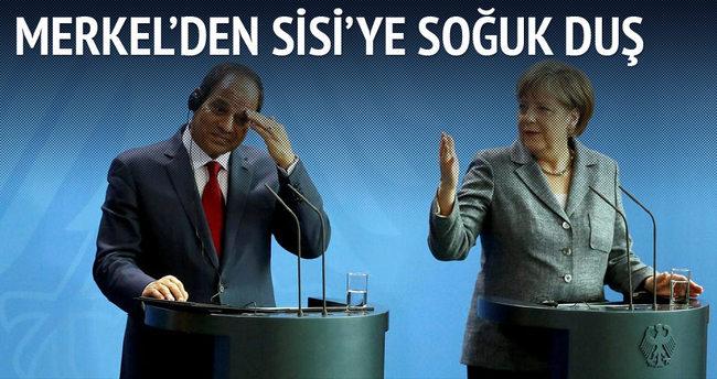 Merkel'den Sisi'ye soğuk duş