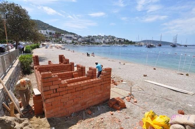 Engelli Vatandaşlar İçin Plaja Tuvalet Yapılıyor
