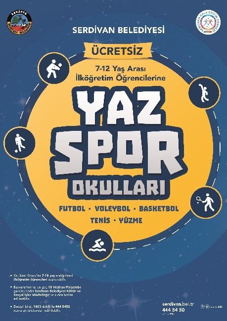 Serdivan Belediyesi'nden Ücretsiz Yaz Spor Okulları
