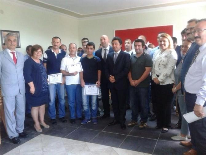 Urla'da Kursu Başarıyla Bitiren Mahkumlar Sertifikalarını Aldı