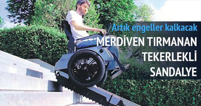 Merdiven tırmanan tekerlekli sandalye