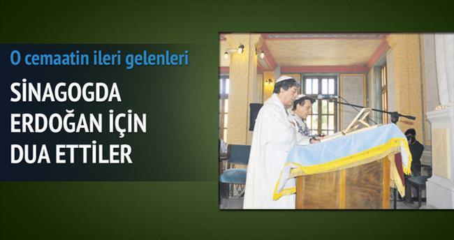 Sinagogda Erdoğan'a dua ettiler