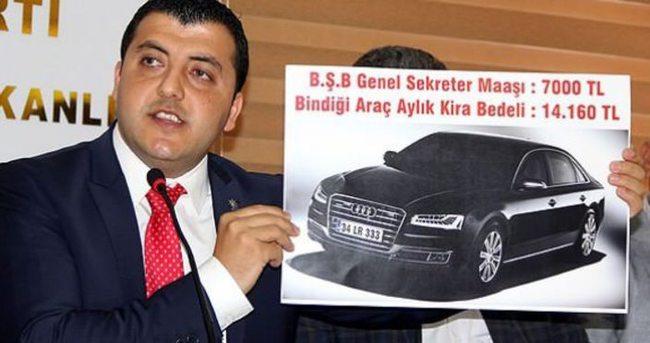 'Makam arabasının kirası maaşının iki katı'