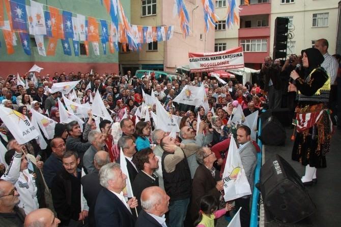 AK Parti Trabzon Milletvekili Adayı Köseoğlu, Şalpazarı, Araklı Ve Of'ta Konuştu