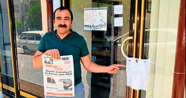 CHP'li belediyeden yerel gazeteye mühür