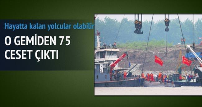 Gemiden çıkan ceset sayısı 75'i buldu
