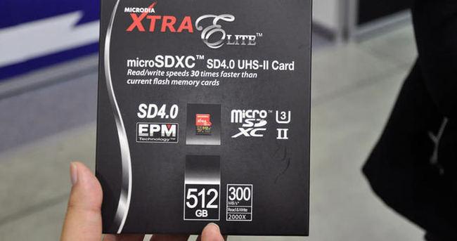 Yarım Terabayt kapasiteli microsd kart!