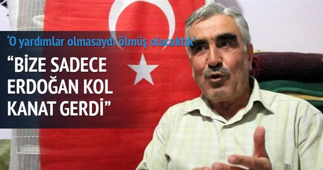 Bize sadece Erdoğan kol kanat gerdi