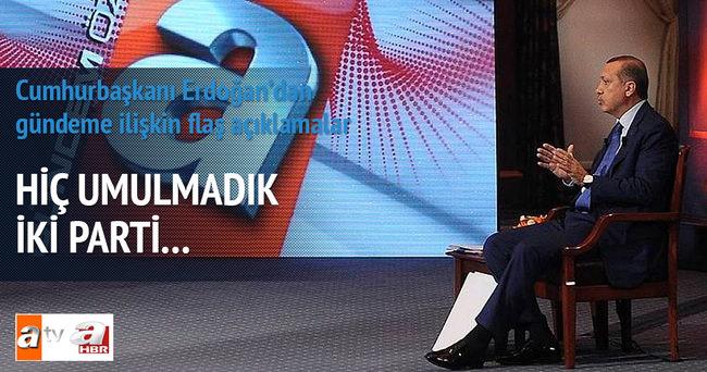 Erdoğan:  Baraj olmasa Türkiye koalisyonlar ülkesi olur