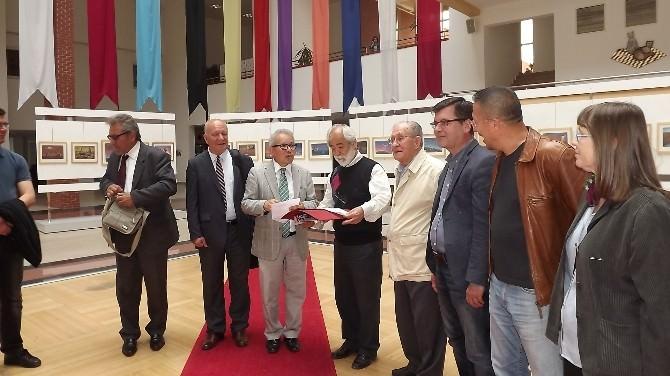 Üniversitede Muhittin Köroğlu Karikatür Sergisi Açıldı