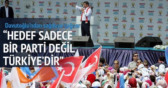 Başbakan: Hedef Türkiyedir