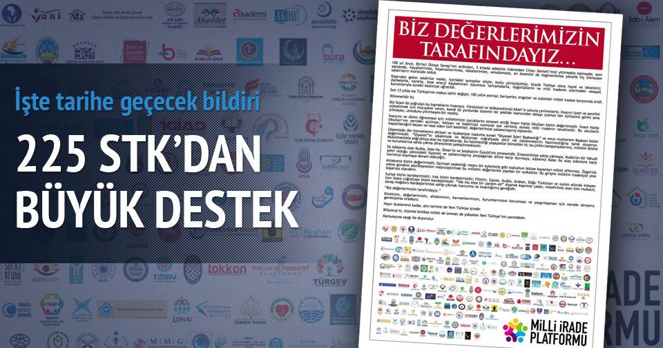 225 STK'dan AK Parti'ye tam sayfa destek