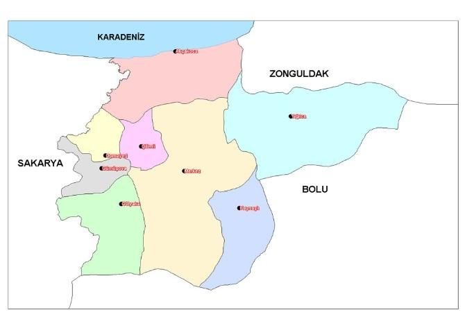 Düzce 7 Haziran 2015 Milletvekili Genel Seçim Sonuçları