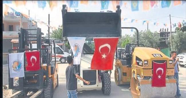 Tesisler açıldı araçlar dağıtıldı