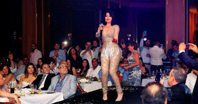 Lübnanlı diva herkesi oynattı