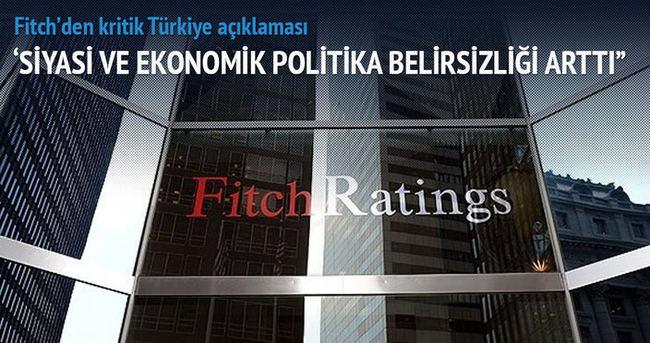 'Siyasi ve ekonomik politika belirsizliği arttı'
